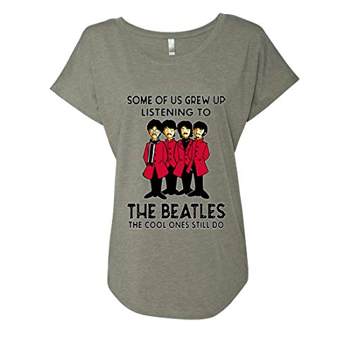 Some of Us Grew Up Listeneing to The Beatles The Cool Ones Still do Ladies Triblend Dolman T-Shirt (Venetian Gray, Medium) (The Beatles My Bonnie Lies Over The Ocean)