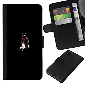 NEECELL GIFT forCITY // Billetera de cuero Caso Cubierta de protección Carcasa / Leather Wallet Case for LG Nexus 5 D820 D821 // Tenga en la motocicleta