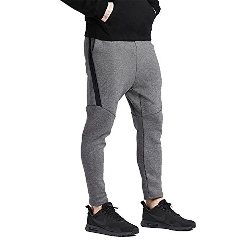 Nike Tech Fleece Cropped Pants Obsidian Grey Carbon Heather 727355 091 (Cropped Fleece Pant)