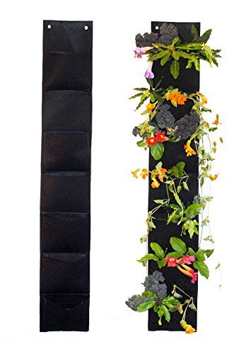 Ambitious Walnut 7 Pocket Vertical Garden Hanging Planter 5 Ft Long. Eco-Friendly and a Great Gift for Gardeners from Aspiring to ()