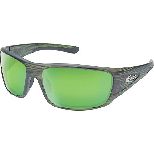 Matte Stripe (Suncloud Tribute Sunglasses, Matte Green Stripe Frame/Green Mirror Polycarbonate Lens, One Size)