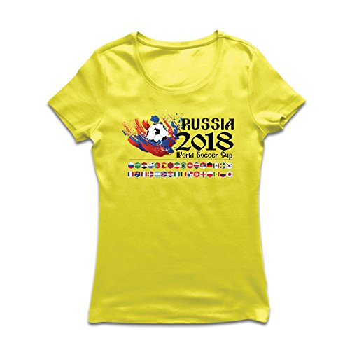 lepni.me Women's T-Shirt Russia 2018 World Soccer Cup, All