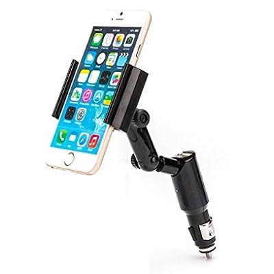 iPhone 7, 7 PLUS Compatible Car Mount Lighter Socket Holder Rapid Charging 2-Amp USB Port