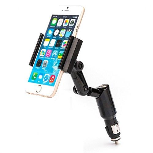 Car Mount Lighter Socket Holder Rapid Charging 2-Amp USB Port for Microsoft Nokia Lumia 430 520 521 530 535 635 640 XL 710 735 810 820 822 830 925 928 1020 Icon 920 925 1520 1320