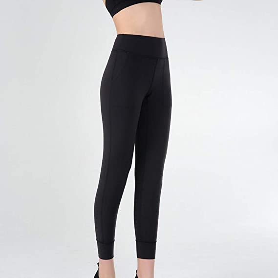 RTYou High Waist Yoga Pants with Pockets Tummy Control Workout Running Yoga Leggings for Women