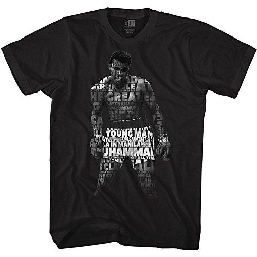 American Classics Muhammad Ali 60s Goat Greatest Boxer Quote Me Black Adult T-Shirt Tee