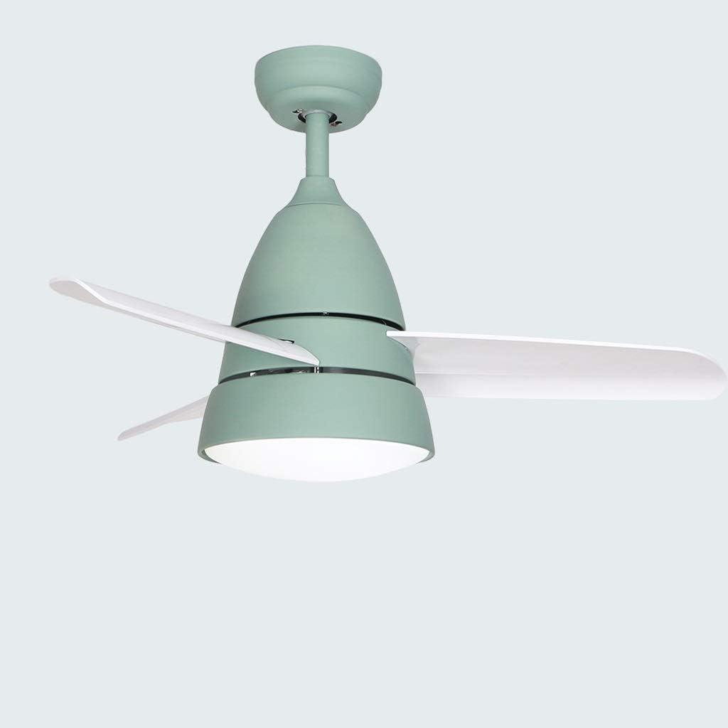 QIULAO Ventilador de techo con luz, 36 pulgadas Luz LED simple for ventilador de techo / 3 aspas, control remoto Ajustable Velocidad de viento Ventilador Araña/Ahorro de energía Lámpara silenciosa