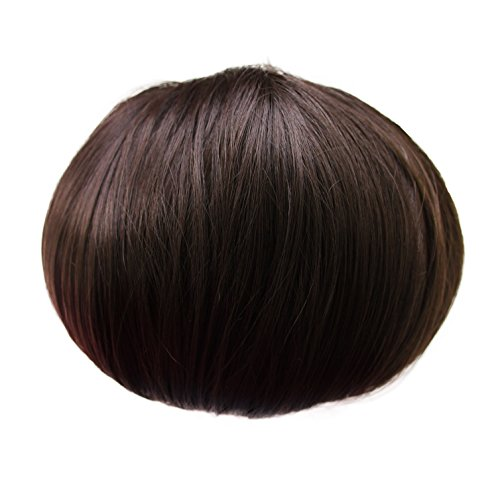 offener DUTT Haarteil Zopf Haarknoten Hepburn-Dutt Haargummi diverse Farbe (dunkelbraun (Farbton 4))