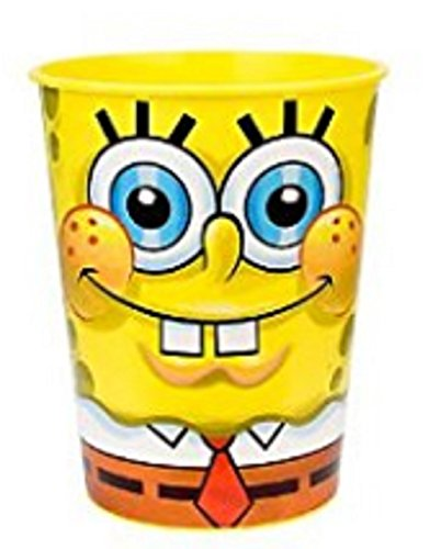 Spongebob Squarepants Plastic 16 Ounce Reusable Keepsake Favor Cup (1 Cup) ()