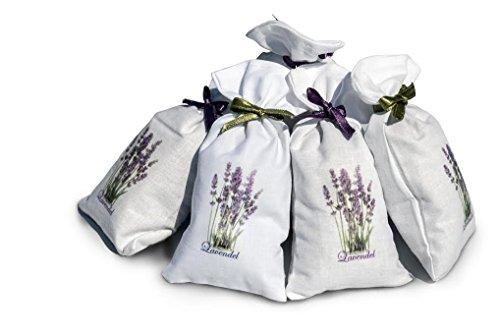 6 x Lavendelsäckchen von LAURi │Lavendel Duftsäckchen │getrocknete Lavendelbüten in 3x grüne Schleifen + 3x lila Schleifen - 120g Gesamtgewicht │ Premiumqualität Lavendel und Intensiver Duft der lange anhält │ Hochwertige Duftkiseen mit Lavendelblüten│Handgelesen und außerordentlich vorsichtig getrocknet Lavendel, ohne Pestizide │Ideal Lavendel für Deko und Duft in Wohnräumen │Beruhigungsmittel │Natürliches bekämpfen von Insekten│100% Hergestellt in Kroatien