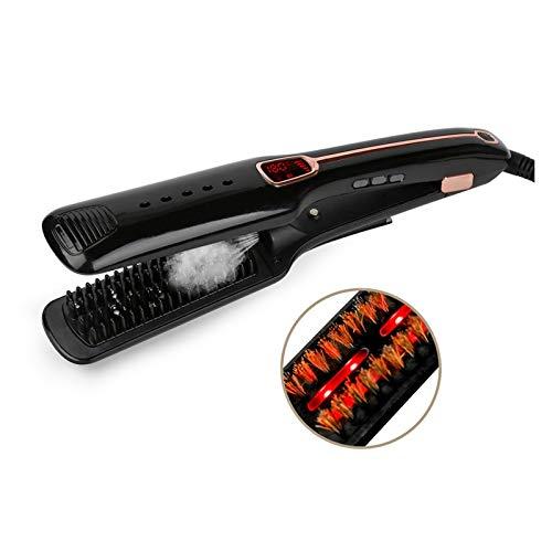 jidan Professional Hair Straighteners Curler Iron Professional Hair straightene Infrared Iron LED Digital Temperature Display Ceramic Tourmaline Ionic Flat Iron Hair straighten (Color : Black)