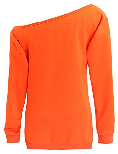 5a1ea40b9c4ab TWKIOUE Women Halloween Pullover Tops Pumpkin Face Slouchy Off Shoulder  Sweatshirts