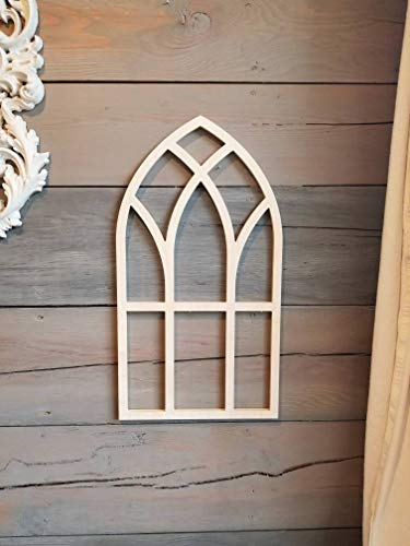 (DASON Arched Window Frame Gothic Window Frame Cathedral Style Window Frame Farmhouse Frames Church Style Window Frames Faux Window Frames)