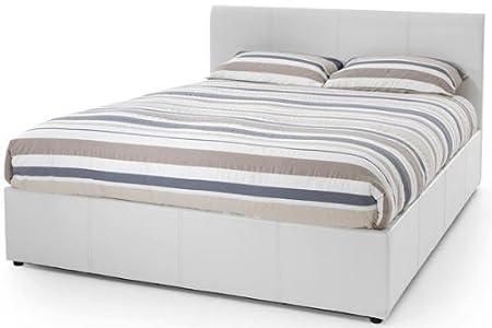 Tremendous Tuscany White Faux Leather Ottoman Bed 180Cm Super King Size Inzonedesignstudio Interior Chair Design Inzonedesignstudiocom