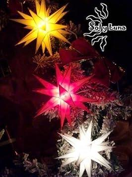 Baltasar Ministern Adventsstern Adventstern Aussenstern Außenstern außen + innen Outdoor Kunststoff Leuchtstern 3 D 20 Zacken (gelb) Artlamp