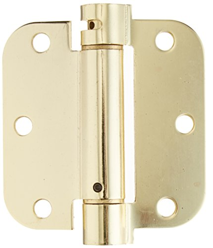 Deltana DSH35R53 Single Action Steel 3 1/2-Inch x 3 1/2-Inch x 5/8-Inch Spring Hinge