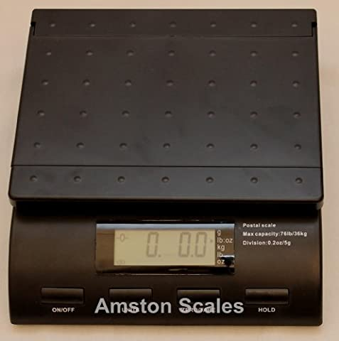 76 LB Digital Postal Scale WITH AC Adapter Plug 76 LB x 0.2 OZ Postage Shipping Mail USPS UPS FEDEX Bench - Usps Digital Scale