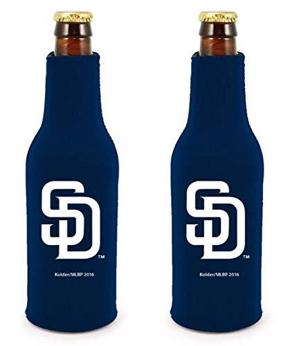 - MLB Baseball Team Color Logo Bottle Suit 12oz Neoprene Holder Zipper Sleeve Cooler 2-Pack (San Diego Padres)