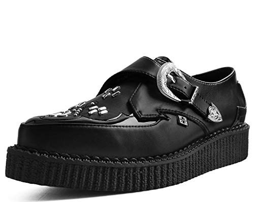 Studded Buckle Strap Creeper Shoe - T.U.K. Shoes A9430 Unisex-Adult Creepers, Black TUKskin Western Pointed Buckle Creeper - US: Men 11 / Women 13 / Black/Synthetic
