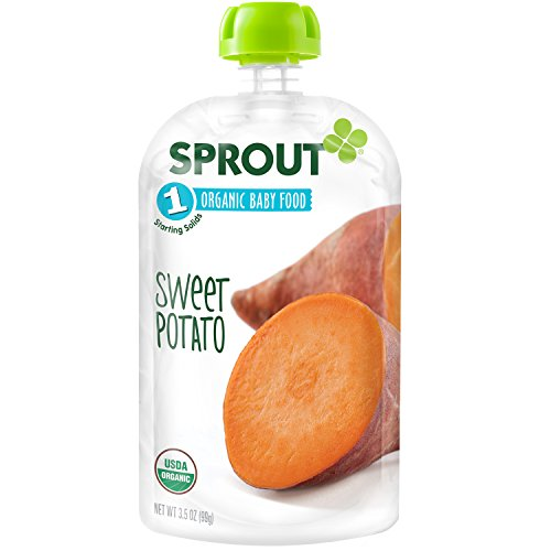 Sprout Organic Baby Food Stage 1 Pouches, Sweet Potato, 3.5 Ounce (Pack of 6)