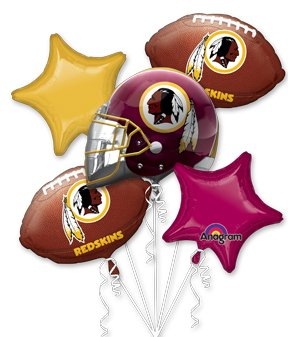 Anagram International Bouquet Redskins Party Balloons, (Redskins Party)
