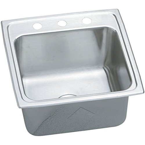 Elkay PLA1919101 1-Hole Pursuit Stainless Steel 19-1/2-Inch x 19-Inch Self Rimming Single Basin Utility Sink