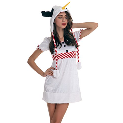 Veroman Women's Christmas Snowman's Costume (Snowman) (Biblical Character Costumes)