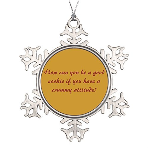 (Metal Ornaments Attitude Sayings Personalized Family Christmas Snowflake Ornaments Outdoor Christmas Decor)