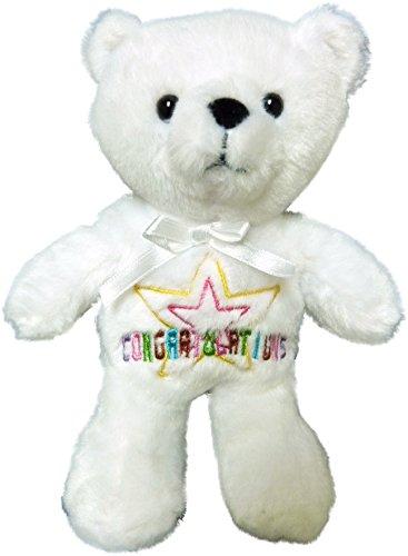 Anico Plush Toy, Occasional Stuffed Animal Bear, Congratulations, White