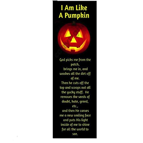 Trunk Or Treat Car Ideas (biblebanz I Am Like A Pumpkin Halloween Bookmarks, 100 Pack, Christian Handouts, Trunk or Treat Ideas, Fall)
