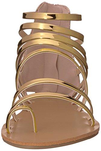 Met Gladiator Gold 1017 Qupid Shiny Frauen Sandale Polyurethan für Athene Pnxxw46Y
