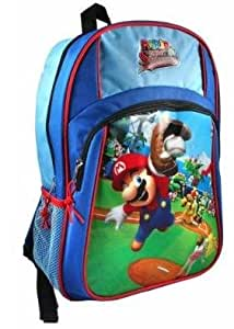 Amazon.com: Mario Super Sluggers Backpack with Mario Lunch