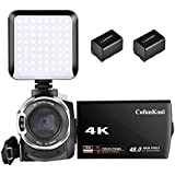 4K Video Camcorder, CofunKool Handheld 48MP 16X Digital Zoom DV Camcorder 60FPS Video Camera with Wifi LED Light 3.0 Inches IPS Screen
