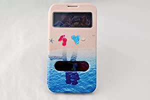 Xinjie Samsung Galaxy Note 2 Ii N7100 Cute Cartoon Case Double Window S View Leather Stand Case Cover for Samsung Galaxy Note2 Ii N7100 (6)