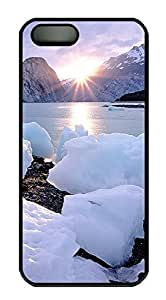 iPhone 5 5S Case Landscapes Ice Rise PC Custom iPhone 5 5S Case Cover Black