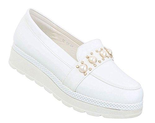 Schuhcity24 Damen Schuhe Freizeitschuhe Sneakers Weiß