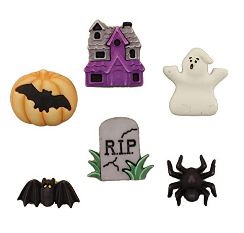 Buttons Galore Halloween Craft & Sewing Buttons - Happy Hauntings - Set of 3 Cards]()