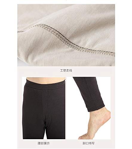In E A Di Ispessiscono Cotone Morbidi Alta Leggings Stagione Che Invernali Combinazione Seta Da Hhong Uomo Nero Pantaloni Vita Caldi vxEq6w6T