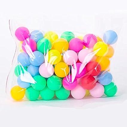 Ricisung Farbe Kunststoff Farbe Matt Tischtennis nahtlos Entertainment Spiel Lotterie Tischtennis 100pc