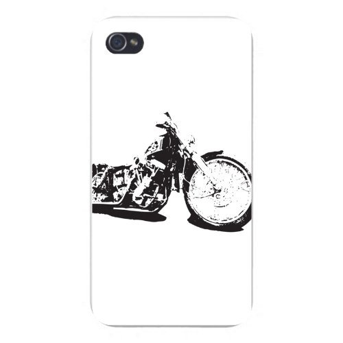 Fashion Ultra Thin Skin Case Cover For iPhone 5 / 5s- Motorcycle Bike Black & White Contrast Art (Black And White Dress Up Ideas)