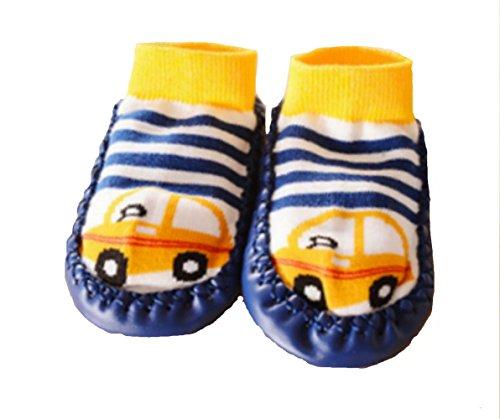 Zapatillas calcetines bebé con suela antideslizante de 6a 24Meses rosa rosa Talla:6 a 12 meses azul marino