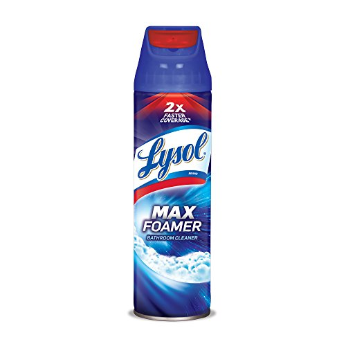Lysol Max Foamer Bathroom Cleaner, 19oz, 2X Faster Coverage