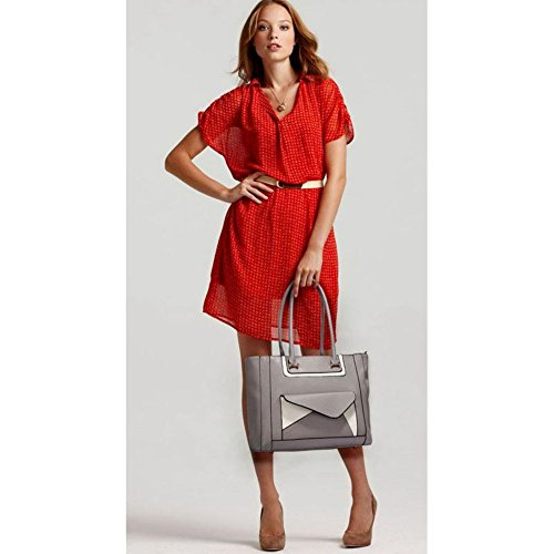 Quality Nice Size Shoulder Bags Ladies Pocket Bag Large Tote Front Women's Designer LeahWard Bag 454 Grey Handbags tqxn8gxw
