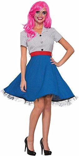 Comic Art Pop Costume (Pop Art Ms Dottie Costume - Standard - Dress Size 6-12)