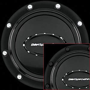 Billet Specialties 32719 Anodized Riveted Horn Button, Black