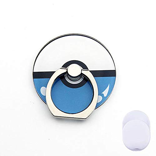 ZOEAST(TM) Phone Ring Grip Pocket Monster Ball Pokeball Universal 360° Adjustable Holder Car Hook Stand Stent Mount Kickstand Compatible All iPhones Samsung Galaxy Android Pad Tablet (Ball Blue)