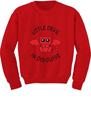Little Devil in Disguise Easy Halloween Costume Toddler/Kids Sweatshirts 5/6 Red -