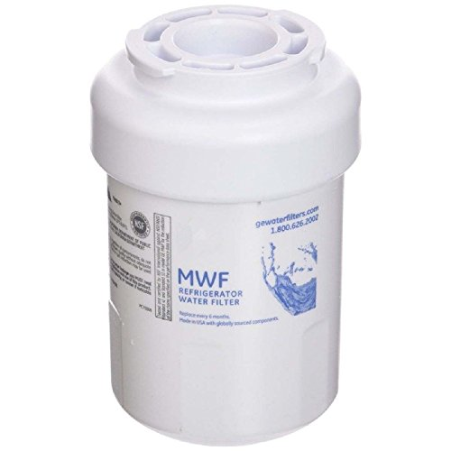 wate Refrigerator ice&Water Filter Replacement for Filter MWF SmartWater, MWFA, MWFP, GWF, GWFA, 46-9991, HDX FMG-1, WFC1201, GSE25GSHECSS, PC75009, RWF1060 (Pack of 1)
