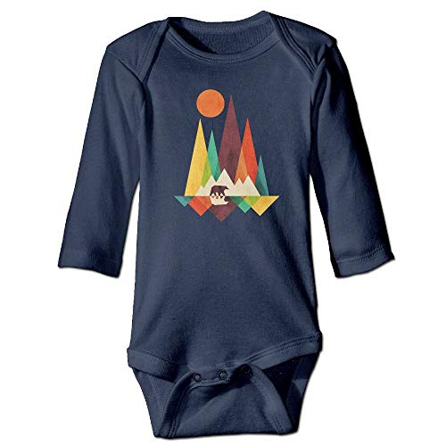 Binfldg Mountain Bear Graphic Long Sleeve Crawling Jumpsuit Rompers