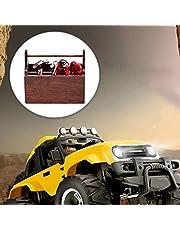 8Pcs Rc Crawler Car 1:10 Decor Accessories Mini Repair Toolbox for Axial Traxxas TRX-4 Truck Car Rc Car Accessories Decor(Brown)